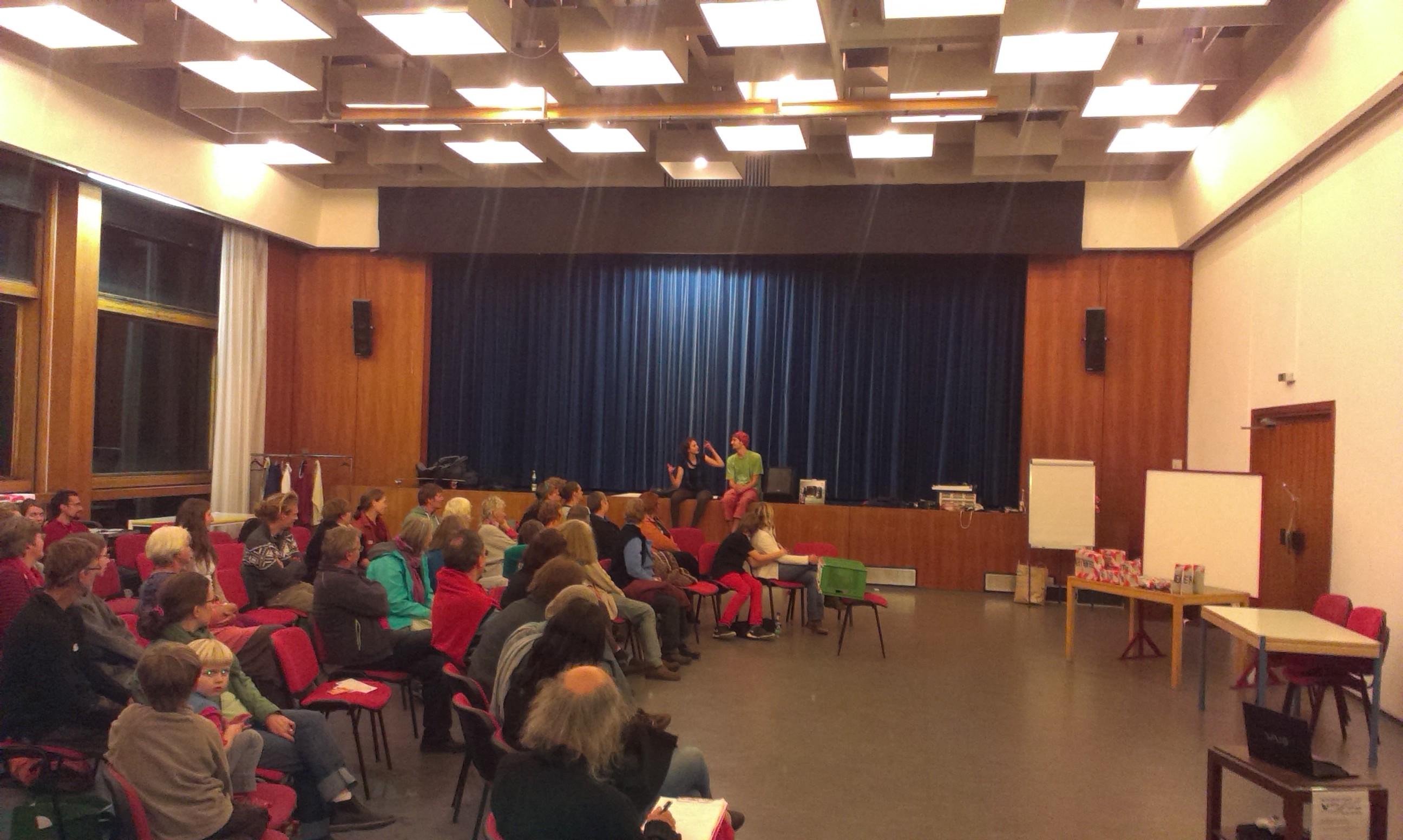 Transition Theater an der Transition D-A-CH Unkonferenz an den Helfensteinen